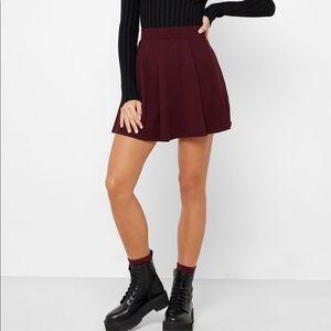 NEW forever 21 pleated maroon skater skirt NWOT
